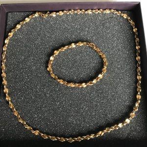 14 K Gp necklace and bracelet